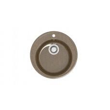 Мойка глянцевая Лексия L6G37  515х515х213мм Терракот в комплекте сифон, герметик. Без фрезы VERBA