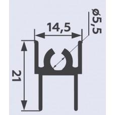 Горизонт верхний FURNIAL Белый глянец 5,9 м  1мм   PREMIAL