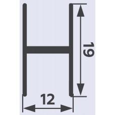 Рамка средняя Б/самореза 19 мм Белый глянец лайт 5,9 м   PREMIAL