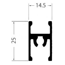 Рамка средняя  черный матовый 1,2мм  под саморез 5,35м Аристо   Т