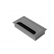 Кабель-канал прямоугольный 80х160 матовый хром